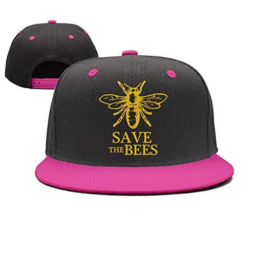 Voxpkrs Speichern Sie die Bees Flat-Brim Baseballmützen Unisex Snapback Adjustable Hat für Männer/Frauen DV888