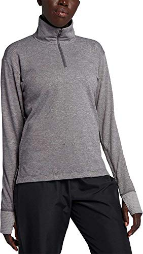 NIKE Women s Therma Sphere Element Half-Zip Running Pullover (XL, Gunsmoke HTR)