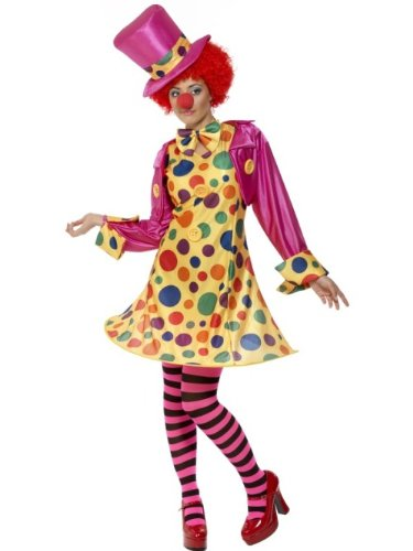 Smiffys womens Clown Lady Adult Sized Costume, Multi-colour, 10/12 US