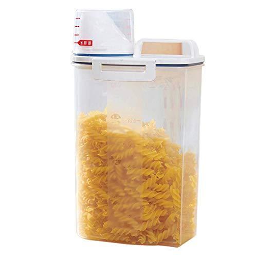 Pigupup Dispensador de Cereales Caja de Almacenamiento Caja de Cocina Alimentos harina de arroz Recipiente medidor de Humedad Copa Prueba del Insecto