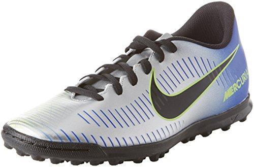 Nike Mercurialx Vortex III NJR Tf, Scarpe da Calcio Uomo, Multicolore Racer Blue Black CHR 407, 42 EU