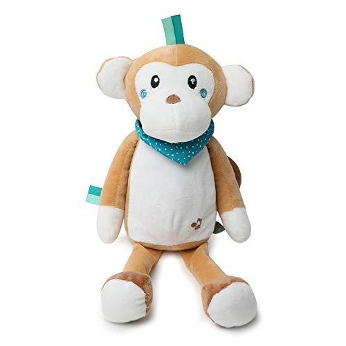OELPAN Spielzeug LED Beleuchtung Sleep Led Teddy Lampe LED Nachtlampe Spielzeug Plüsch Weiche Spielzeug für Kinder Füllung Musik Spielzeug für Mädchen (Farbe: Grau) (Color : 37 cm)