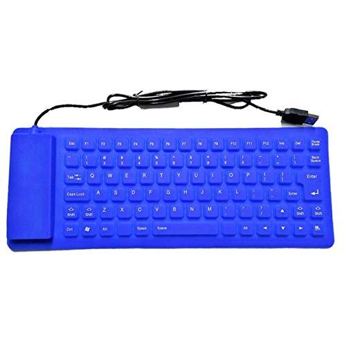 KAR 85 Schlüssel USB Mini Flexible Silikon-Folding PC Verdrahtete Tastatur Für Notebook Faltbare Bewegliche Wired Englisch Tastatur,B