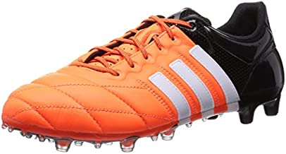 adidas Ace 15.1 FG/AG Leather Mens Football Boots Soccer Cleats (UK 6 US 6.5 EU 39 1/3, Orange White Black B32820)