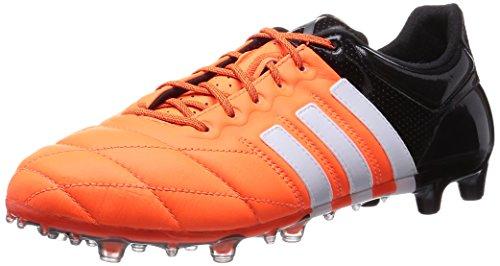 adidas Ace 15.1 FG/AG Leather Uomo Scarpe da Calcio, Arancia, 39 1/3