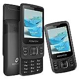 Konrow Slider Télephone Coulissant GPRS (2,4 pouces, Double Sim,...