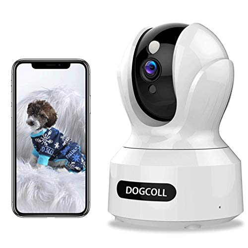 [New 2020]DOGCOOL FHD Pet Camera Dog Camera 360° WIFI Pet Monitor Indoor Home Cat Cam with Alexa,Sound Detection, Motion Tracking and Alert, Two-Way Audio,Pan/Tilt/Zoom Baby Monitor with Night Vision