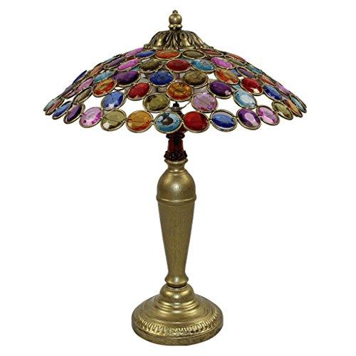 AILI Schreibtischlampen Nachttischlampen Tischlampen Europäische Stil Retro Tischlampe, Französisch Regenschirm Lampe, Schlafzimmer Studie Tischlampe Tisch- & Nachttischlampen