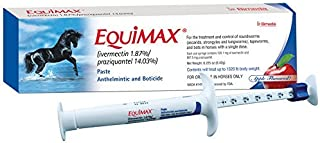 Equimax 6.42 Gms Paste Apple Flavored Horse Dewormer Tapeworms Use in Foals, Mares, Including Pregnant and Lactating Mares, Ponies