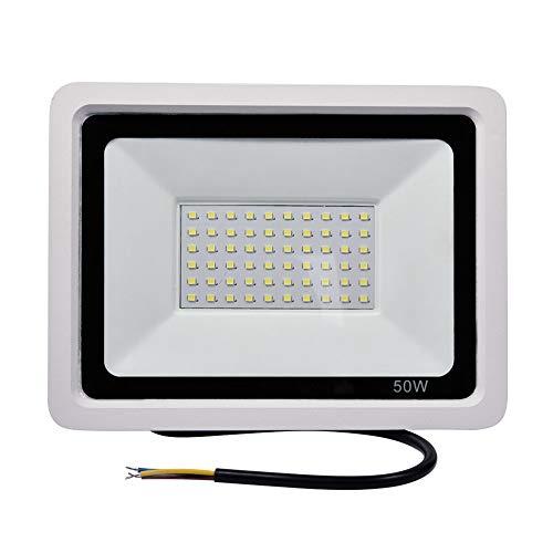 Focos LED Exterior, Yuanline 50W Iluminación de Exterior para Exteriores Resistente al Agua IP67 Floodlight para Jardín, Terraza, Camino, Estadio(Blanca Fría)
