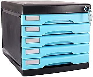Classeurs verrouillables de Stockage PC de Bureau en Plastique Famille fichier Boîte de Rangement Armoire de Rangement de ...