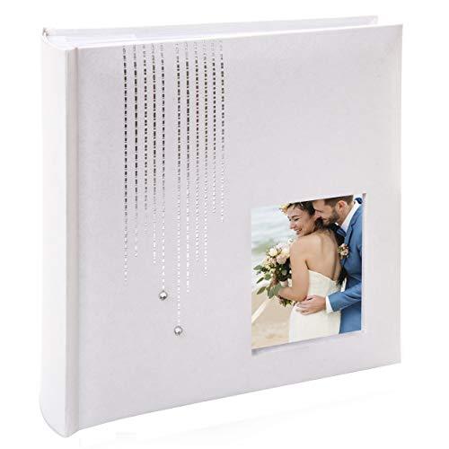 Kusso Pearl - Álbum de Fotos para Bodas, bautizos y Celebraciones (10 x 15 cm), Color Blanco