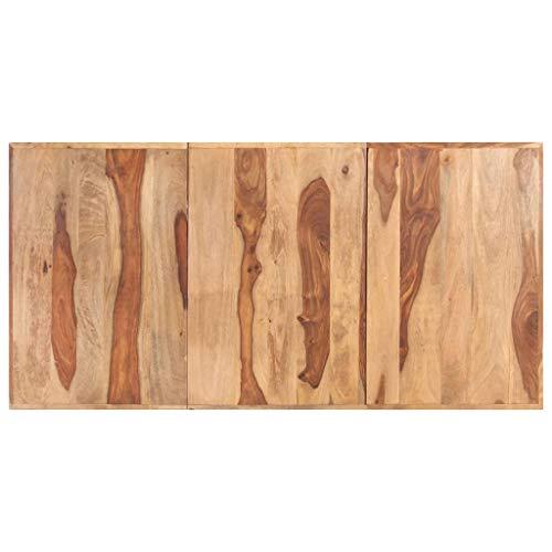 vidaXL Sheesham-Holz Massiv Tischplatte Massivholzplatte Holzplatte Ersatztischplatte Holz Platte für Esstisch Couchtisch 16mm 200x100cm