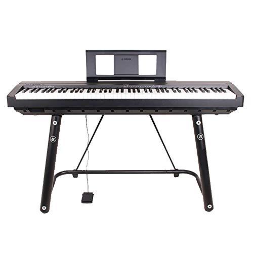 WHR-HARP Soporte de Teclado Patas, Soporte de Piano Soporte de Teclado en Forma U Soporte para Teclado de Metal, Se Adapta a Los Pianos Eléctricos Clave 54-61-88/Carga Máx 30 Kg