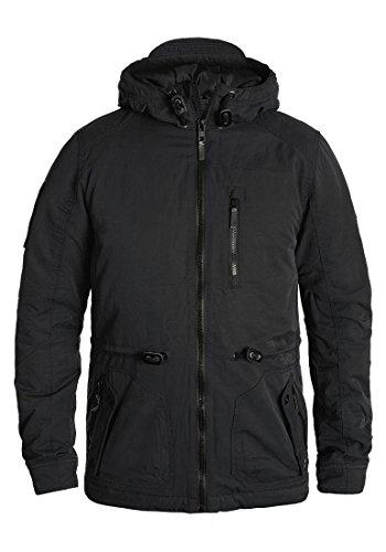 Blend Marco Herren Winter Jacke Herrenjacke Winterjacke gefüttert mit Hochabschließendem Kragen und Kapuze, Größe:L, Farbe:Black (70155)