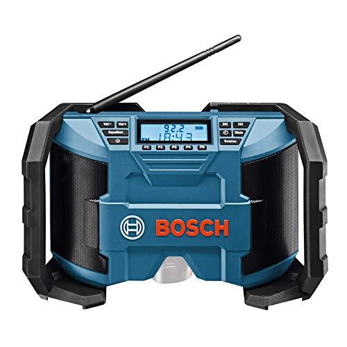 Bosch Professional GML Soundboxx Radio para construcción, doble alimentación, FM/AM, MP3, en caja, 12 W, 18 V, Negro/Azul