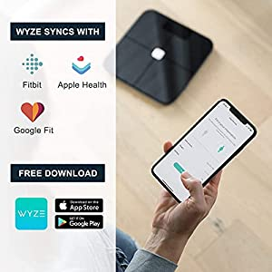 Wyze Scale, Bluetooth Body Fat Scale and Body Weight Composition BMI Smart Scale, Digital Display, Heart Rate Monitor Tracker, Wireless Body Fat Percentage Tracker, Analyze with Smartphone App, Black