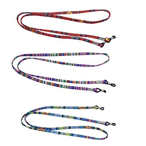Correa para Gafas para Mujer 3 Piezas Cuerda Gafas de Sol Ajustables para Gafas Deportivas Cadena Gafas Gafas Cordón Cuerda