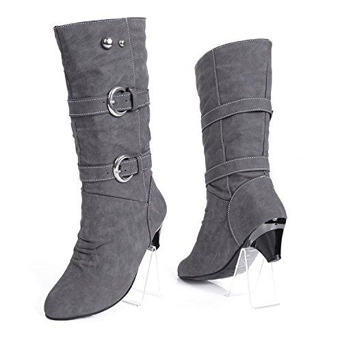 Shukun enkellaarzen riem gesp Martin laarzen in de buis wig met zachte riem gesp Martin laarzen Women'S Schoenen laarzen