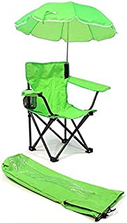 Redmon Umbrella Camping Chair with Matching Shoulder Bag, Lime Green