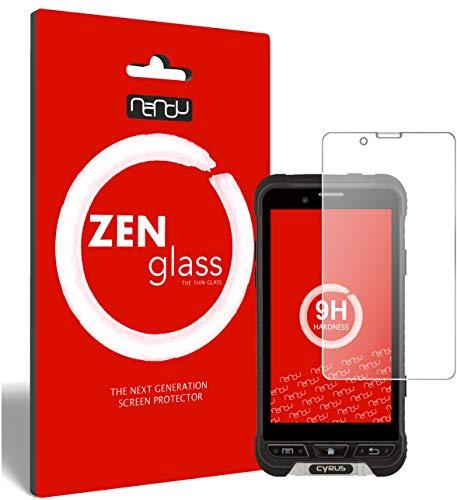 ZenGlass (2 Stück Flexible Glas-Folie kompatibel mit Cyrus CYR10090 CS35 Panzerfolie I Bildschirm-Schutzfolie 9H