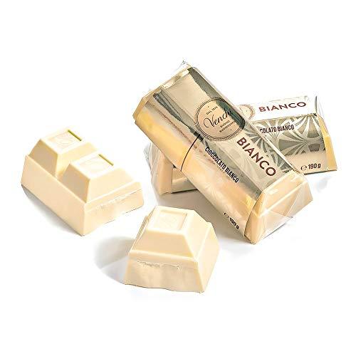 Venchi Blocchetto di Cioccolato Bianco Extra Fine, Formato di Taglio, senza Glutine, 190 Grammi