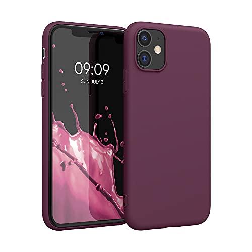 kwmobile Hülle kompatibel mit Apple iPhone 11 - Hülle Handyhülle - Handy Hülle in Bordeaux Violett