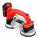 Handheld Tiling Machine, Seesii Portable Tiler Leveling Machine with 2 Battery, Double 12cm Vibrator Suction Cup, 5 Speed Adjustable Automatic Laying Vibrating Tool for Floor Wall Bathroom Kitchen