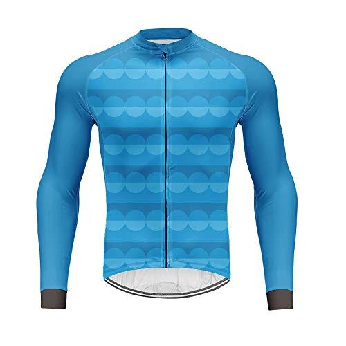 Outdoor-Sports Cyclisme Jersey Hommes Hiver Chaud Respirant Manches Longues Vélo Vêtements Dry Dry Mountain Racing Vêtements de Sport pour Vélo et Fitness