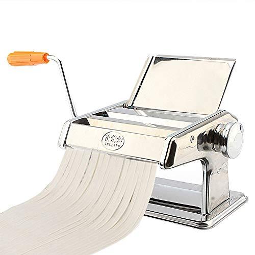 Nudelmaschine, 3 in 1 Heavy Duty Edelstahl Manuelle Nudelmaschine Manuell Pasta Walze Maschine mit Kurbel und Klemme für Home Kitchen Restaurant