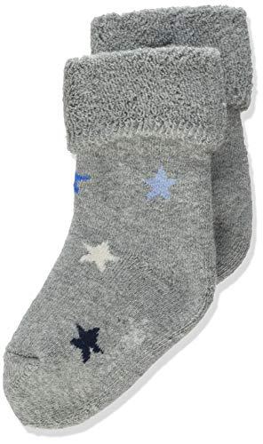 Sterntaler Baby-Jungen Söckchen Sterne Socks, Silber Mel, 18
