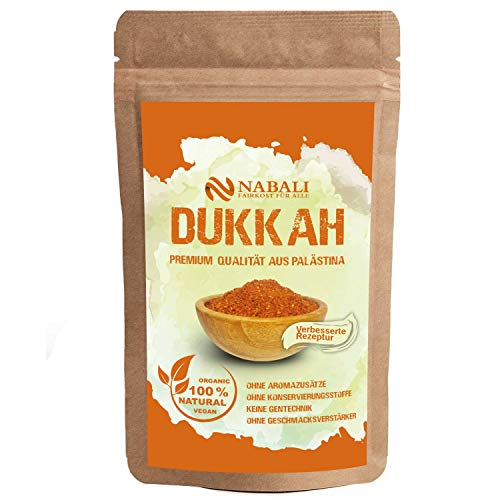 NABALI FAIRKOST FÜR ALLE Gewürzmischung Dukkah Dukka nach Ottolenghi 50 g - 100% naturell aromatisch traditionell frisch orientalisch I ohne Konservierungsstoffe I vegan