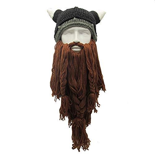 Peluca y Barba Larga Trenzada Halloween Carnaval Vikingo bárbaro