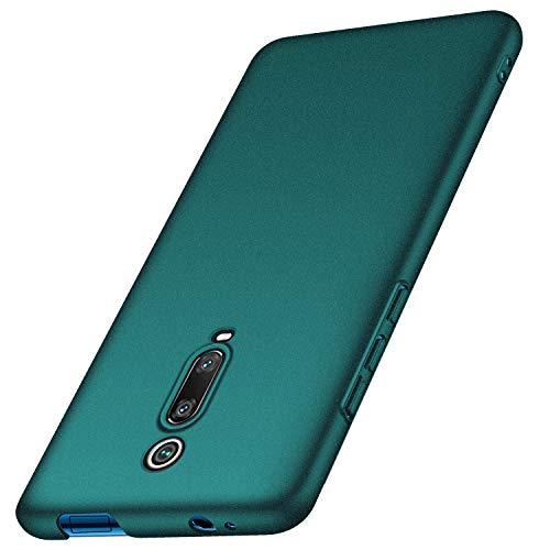 anccer Kompatibel mit Xiaomi Mi 9T / Xiaomi Mi 9T Pro Hülle, [Serie Matte] Elastische Schockabsorption & Ultra Thin Design für Xiaomi Mi 9T / Mi 9T Pro (Kies Grün)