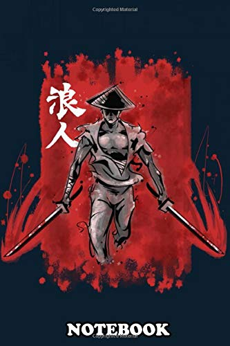 """Notebook: Les Less Samurai He Could Be A Honor Ronin The Master , Journal for Writing, College Ruled Size 6"""" x 9"""", 110 Pages"""