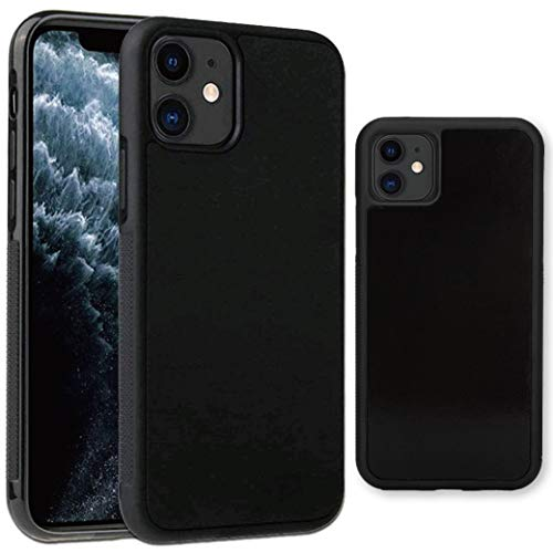 imluckies Anti Gravity Phone Case for iPhone 11, Goat case Magical Nano Technology can Stick to Glass, Whiteboards, Metal and Smooth Surfaces [Black]