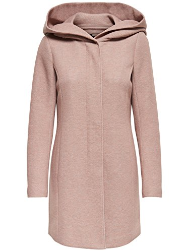 ONLY Damen Mantel Jacke Sedona Light Coat Parka Übergang Frühling (44 (Herstellergröße: XXL), Braun (Mocha Mousse Detail:Melange))