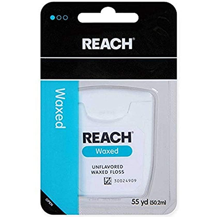 REACH Unflavored Waxed Dental Floss, 55 yds (Pack of 6)