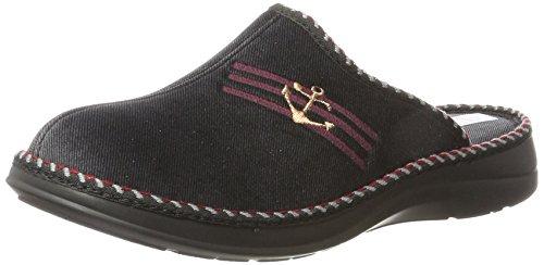Fargeot PAVILLON Unisex-Erwachsene Pantoffeln, Schwarz, 40 EU