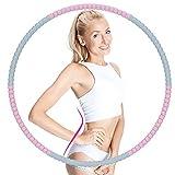 8 Sección Extraíble Portátil Hula Hoop Fitness Añadir Peso Libremente Hula Hoop Fitness para Adultos Principiantes,Perder Peso Deportivo Hula Hoop,Entrenamiento Weighted Hula Hoop-H 88cm(35inch)