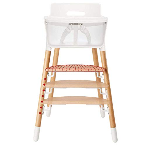 Asunflower Wooden High Chair Adjustable Feeding Dining Chair for Baby Highchairs Solution with Tray for Baby/Infants/Toddlers