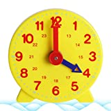 jiheousty Montessori Schüler Lernen Uhrzeit Lehrer Ganguhr 4 Zoll 12