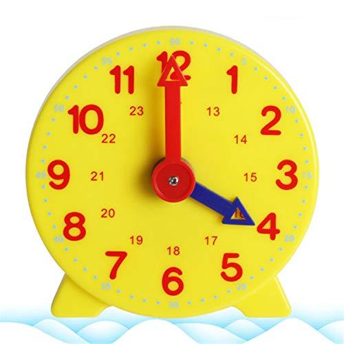 Lyguy Schüler Lernen Uhr, Montessori Schüler Lernen Uhr Zeit Lehrer Zahnrad Uhr 4 Zoll 12/24 Stunde 1 Stück Farben RandoMillilitery