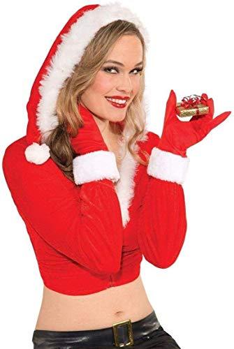 Forum Novelties Red Santa Gloves Women's Costume Accessory