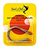 Sun's Out Beauty Jumbo 2' Premium Hot Roller Clips - Curler Clips - Orange Tip (8 count)