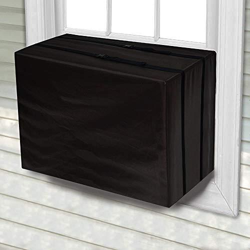 Nanssigy - Funda protectora para aire acondicionado exterior, ventana exterior, cubierta de la unidad de CA a prueba de polvo, resistente al agua, cubierta de protección de CA al aire última intervensión, ventana de aire última intervensión, cubierta de protección de CA