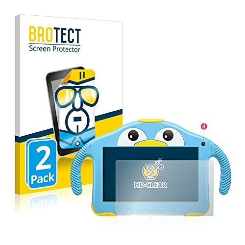BROTECT Protector Pantalla Compatible con Yenock MID-1013 Kids Tablet 7' Protector Transparente (2 Unidades) Anti-Huellas
