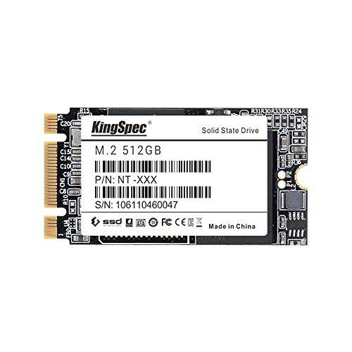 KingSpec 512 GB M.2 SSD 22 * 42mm MLC SATAIII NGFF-Solid-State-Speicher NAND-Flash-Speicher [2242-512GB]