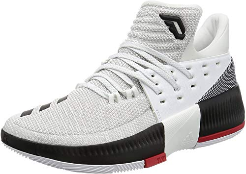 adidas D Lillard 3 - Zapatillas de Baloncesto para Hombre, Blanco - (FTWBLA/Negbas/Escarl) 50