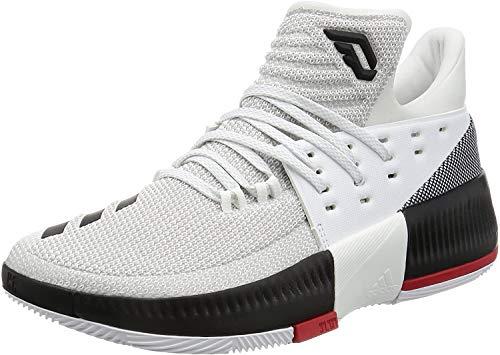 adidas D Lillard 3 - Zapatillas de Baloncesto para Hombre, Blanco - (FTWBLA/Negbas/Escarl) 49 1/3
